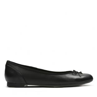 Clarks Womens Couture Bloom Black Leather Shoes